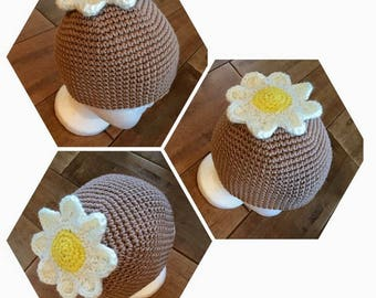 Cotton girls spring and summer hat in crochet
