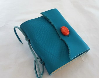 Turquoise Leather Journal, Southwest Journal, Western Travel Journal, Turquoise Journal