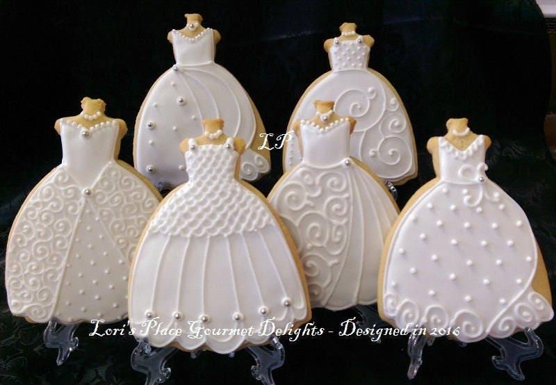 Wedding Gown Cookies Wedding Dress Cookies 3 6.00 each