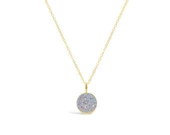 Opal Druzy Necklace, Druzy Jewelry, Drusy Necklace, Drusy Jewelry, Druzy Quartz Necklace, Bridesmaid Jewelry, Bridesmaid Necklace