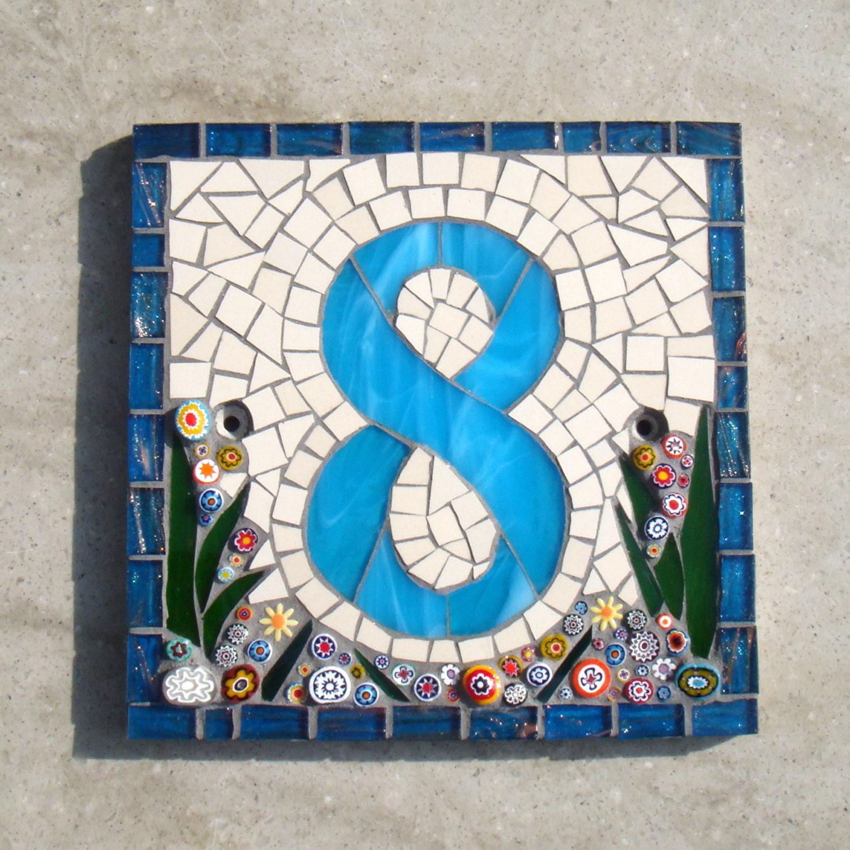Mosaik Hausnummer Hauszeichen Plaque Adresse Yard Art