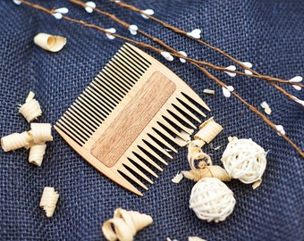 Personalized Wooden Beard Comb Hair Comb Engraved Brother gift Father of the Bride Gift for men Pocket Comb Birthday Gift for Guy Beard