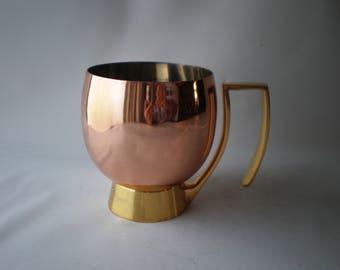 Unusual Godinger Copper and Brass Tankard or Mug