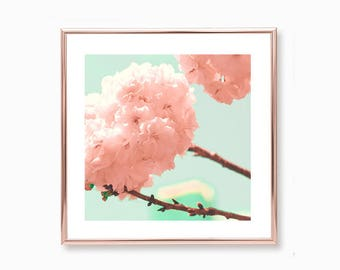 Girl nursey decor girl nursery wall art girl toddler girl room decor, blush pink wall art, cherry blossom art, spring decor, wall art canvas
