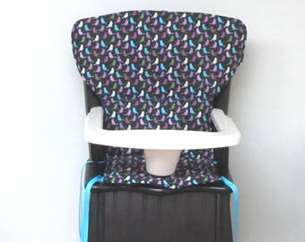 safety 1st wooden highchair cover or Newport Eddie Bauer cushion chair replacement pad, kids furniture feeding chair protector, pretty birds