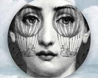 Lina Cavalieri psychedelic II plate