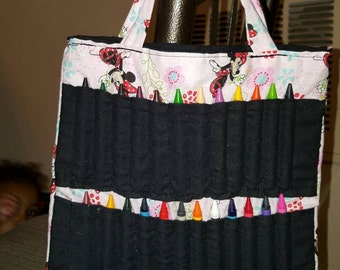 Minnie Mouse coloring book bag