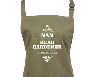 Gardening Gift, Gift For Gardeners, Mothers Day Gift, Fathers Day Gift, Personalised Apron, Garden Gift, Garden Accessory, Gift For Her