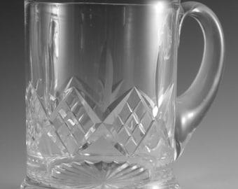 "STUART Crystal - GLENGARRY Cut - Tankard Glass / Glasses - 4 1/4"""