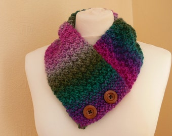 Gorgeous Rainbow Neck Warmer / Short Neck Scarf - Great For Everyday Use- Charity Listing - Ideal For Spring