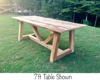 Farmhouse Outdoor Table or Indoor Dinning-Provence Beam Style