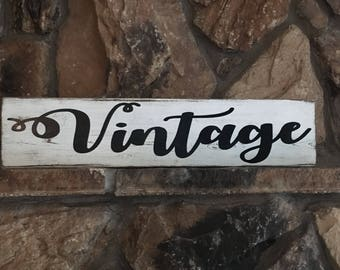 Vintage wood sign,  rustic wood sign, hand painted, farmhouse style, distressed wood sign, barn wood