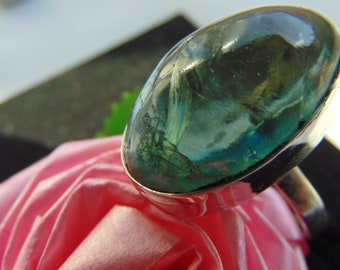 Ring 'The Ninth Wave'. Price: 63 dollars. Apatite in silver
