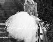 Bridal Skirt White Weddin...