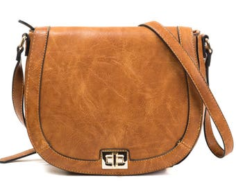 Monogrammed saddle bag