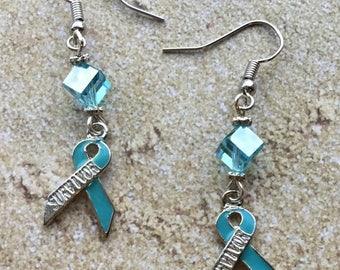 Teal Awareness Earrings