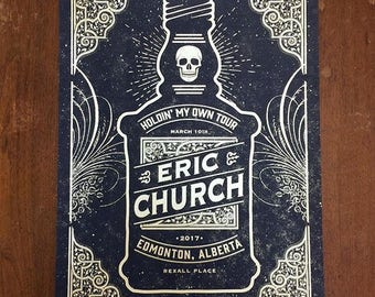 Eric Church Concert Poster, Edmonton, AB