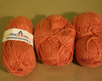 Vintage Pingouin Yarn PingoFrance II - Made in France - 222 Peach - 7818 LOT