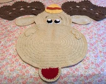 Marty the moose rug