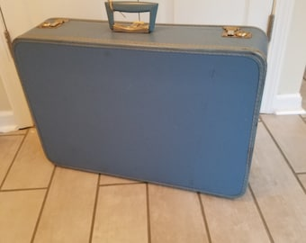 Vintage Travel Pet Bed - Medium (Light Blue)