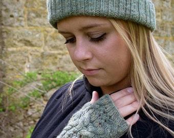 Night Watch Hat and Mitts Knitting Pattern - PDF