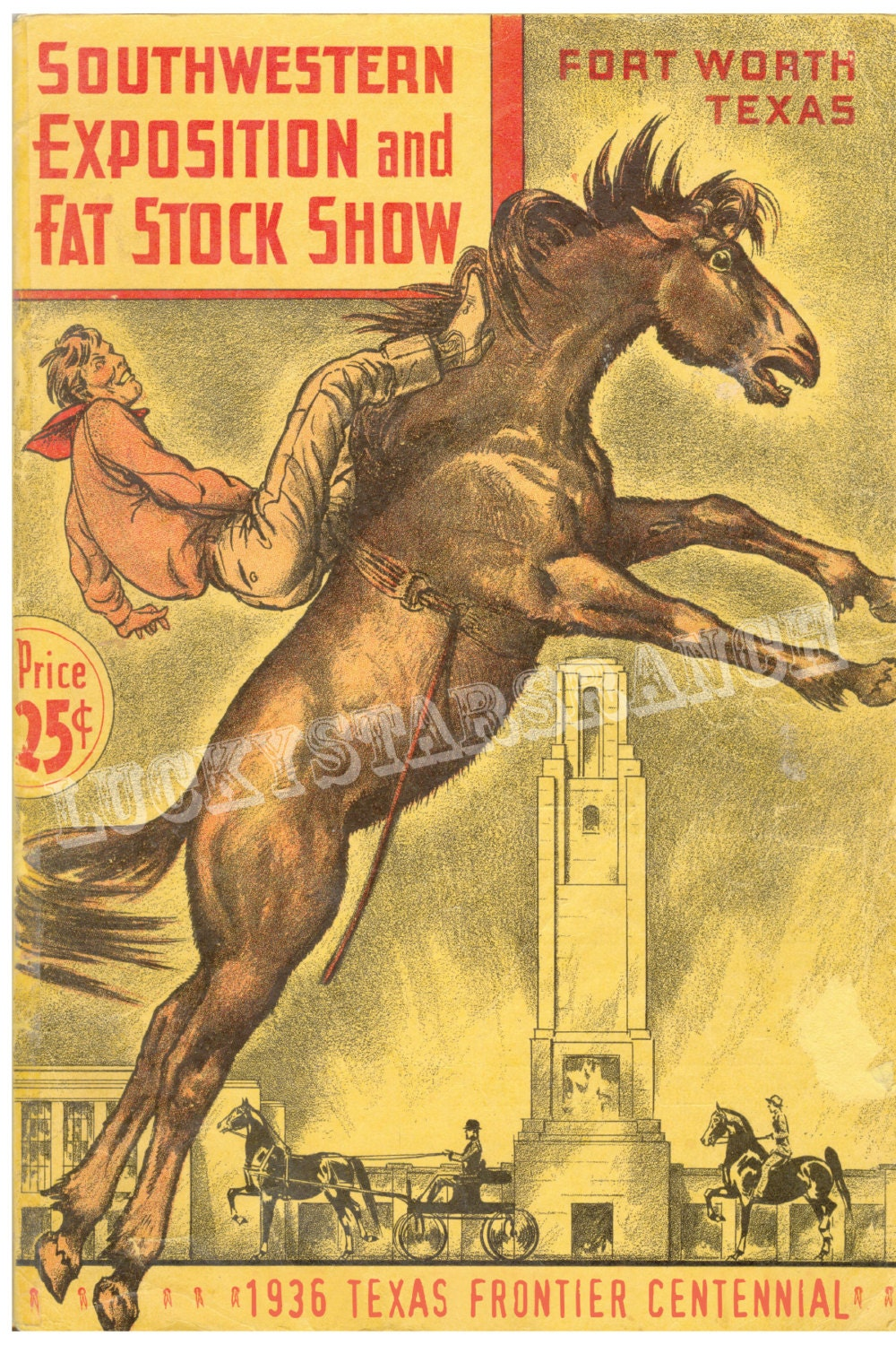 Cowboy Rodeo Ft Worth Fat Stock Show And 1936 Texas Centennial