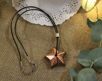 Star necklace copper stained concrete