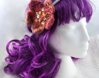 Fireflower dreadlock hair tie/flower headband