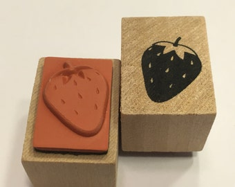 small Strawberry rubber stamp, 20 mm (BB1/4)