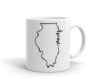 Illinois Home State - Coffee Mug