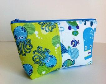 Cosmetic bag, makeup bag, travel bag, kawaii bag by Tomodachi Kitty (READY TO SHIP)