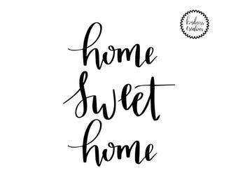 Home Sweet Home Print - Digital Download