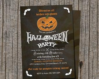 Halloween Pumpkin Printable Invitation / Pumpkin Carving Invitation / Printable / DIY Printable Invitation