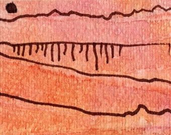 Original ACEO, Sunset Series No.6