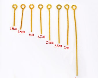 160+ Pcs Mixed Eyepins In Gold