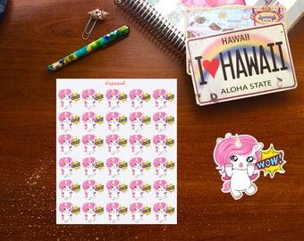 Wow Unicorn Planner Stickers