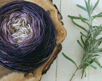 Merino Sock Yarn 100g Gradient Cake - 4ply Purple Gradient - hand dyed