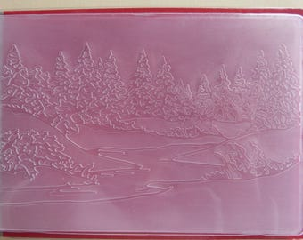 Pine forest embossing plate