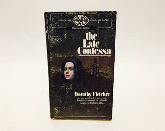 Vintage Gothic Romance Book The Late Contessa by Dorothy Fletcher 1971 Paperback