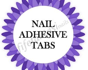Nail Adhesive Tabs, 40 tabs, 2 sheets 20 tabs each , Fake Nails, Press on Nails, Acrylic Nails, Nail Glue, Stick on nails, False Nails