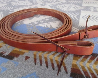 """1"""" Weighted Heavy Harness Leather Split Reins"""
