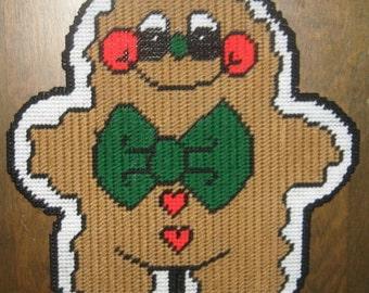 Gingerbreadman Plastic Canvas Pattern