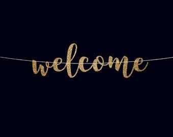Welcome banner wedding banner welcome sign baby shower banner wedding reception banner wedding decoration birthday banner engagement party