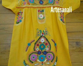 Mexican Embroidered/Bohemian dress size LARGE