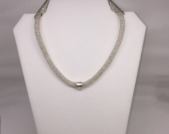 Necklace chain spectacular silver pure