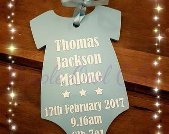 Baby Gift, Personalised Plaque, New baby baby shower keepsake christening baby boy baby girl