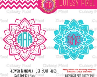 Flower Mandala Svg and DXF cutting file, flower Designs for Cricut and Silhouette Studio, Digital Cut Files, Flower svg, mandala SVG DXF