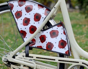 "Bicycle skirt guard ""Poppies"""