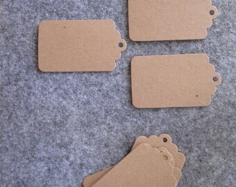 Paper labels; Set of 10 gift tags.