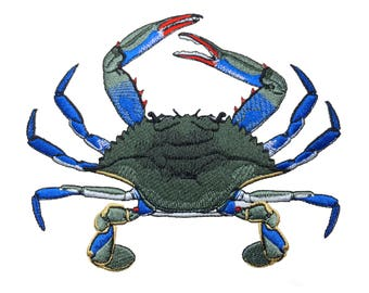 Blue Crab Embroidery Design